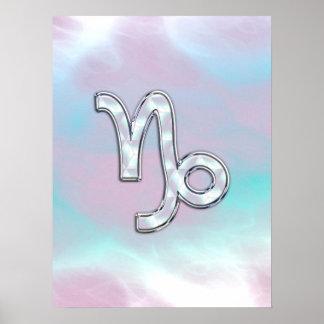 Capricorn Zodiac Symbol on Mother of Pearl Decor