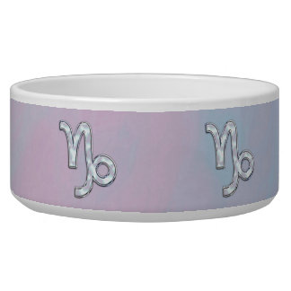 Capricorn Zodiac Symbol on Mother of Pearl Decor Bowl