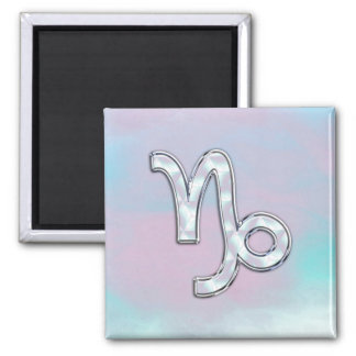 Capricorn Zodiac Symbol on Mother of Pearl Decor Magnet