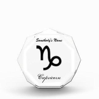 Capricorn Zodiac Symbol Standard Award
