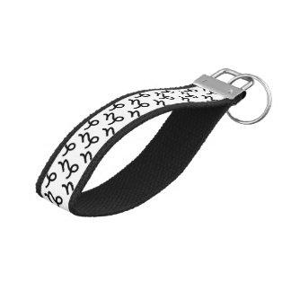 Capricorn Zodiac Symbol Standard Wrist Keychain