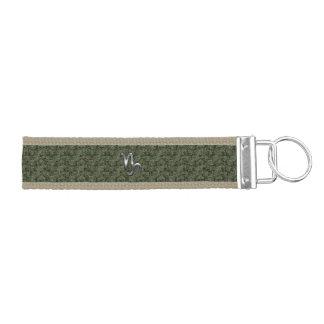 Capricorn Zodiac Symbol Woodland Camouflage Wrist Keychain