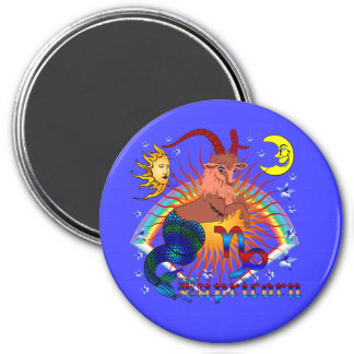 Capricorn-Zodiac-V-1 3 Inch Round Magnet