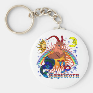 Capricorn-Zodiac-V-1 Basic Round Button Keychain