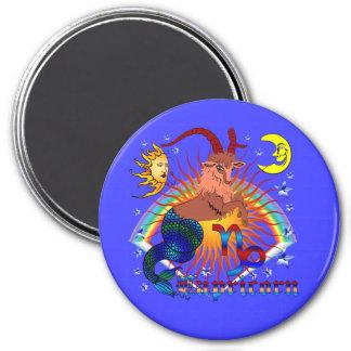 Capricorn-Zodiac-V-1 Imán Redondo 7 Cm