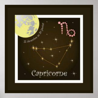 Capricorne 22 décembre outer 20 January four poste Poster