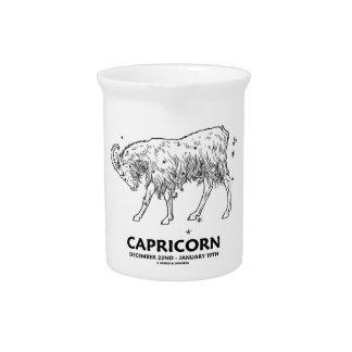 Capricornio (22 de diciembre - 19 de enero) jarra de beber