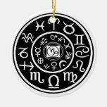 Capricornio - constelación de Zodia y diseño plane Adorno