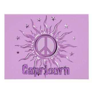 "Capricornio de Sun de la paz Invitación 4.25"" X 5.5"""