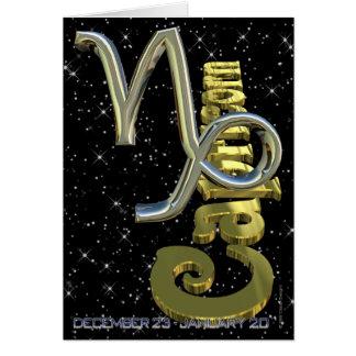 Capricornio - del 22 de diciembre al 20 de enero tarjeta de felicitación