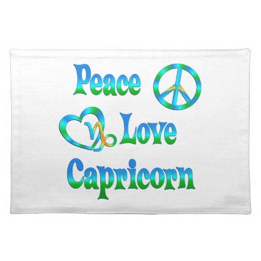 Capricornio del amor de la paz mantel individual