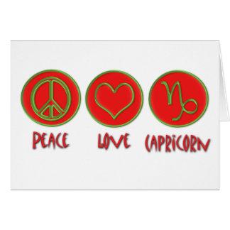 Capricornio del amor de la paz tarjeta de felicitación