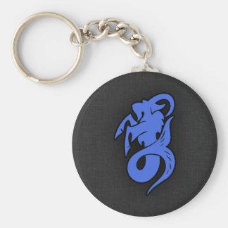 Capricornio del azul real llavero personalizado