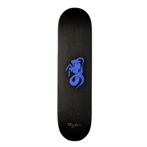 Capricornio del azul real patines