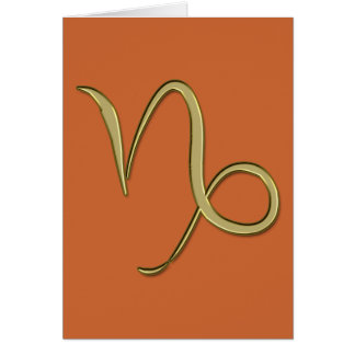 Capricornio del oro tarjeta de felicitación