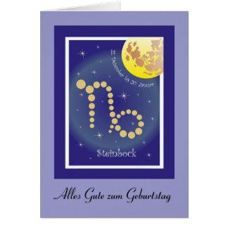 Capricornio el 22. diciembre hasta 20 el enero tar tarjeta de felicitación