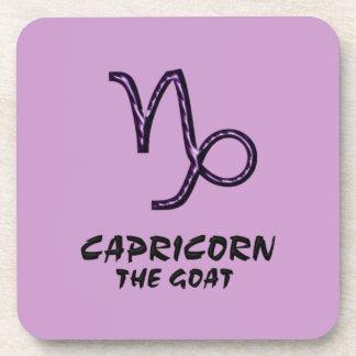 Capricornio el práctico de costa de la cabra posavasos de bebidas