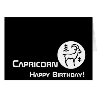 ¡Capricornio, feliz cumpleaños! - Personalizar Tarjeta
