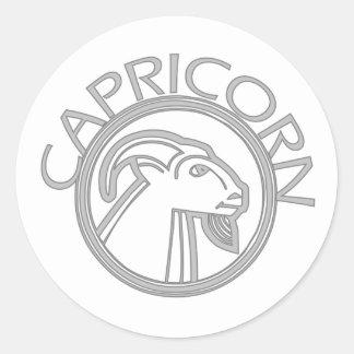 Capricornio la cabra pegatina redonda