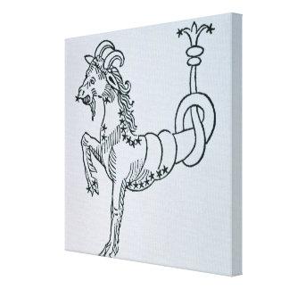Capricornio (la cabra) un ejemplo del 'Poe Impresiones En Lona Estiradas
