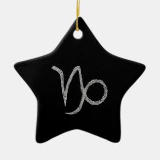 Capricornio. Muestra de la astrología del zodiaco. Ornamentos De Navidad