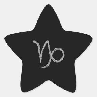 Capricornio. Muestra de la astrología del zodiaco. Pegatina En Forma De Estrella