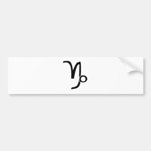 Capricornio, muestra del zodiaco pegatina para auto