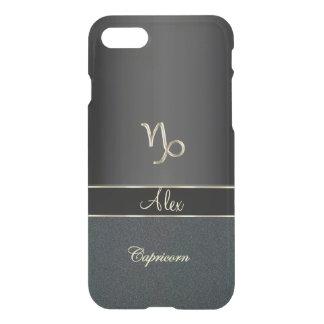 Capricornio negro elegante de la muestra del funda para iPhone 7