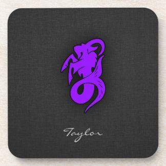 Capricornio púrpura violeta posavasos de bebidas
