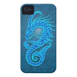Capricornio tribal azul complejo iPhone 4 cárcasas