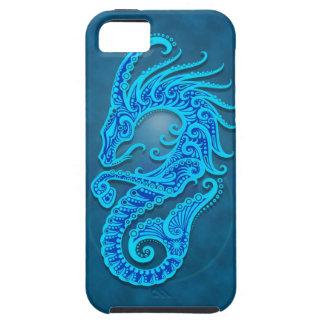 Capricornio tribal azul complejo iPhone 5 fundas