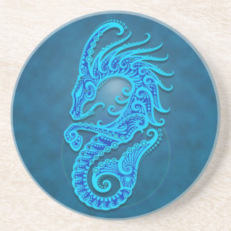 Capricornio tribal azul complejo posavasos de arenisca
