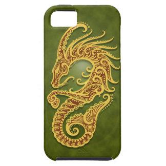 Capricornio tribal verde complejo iPhone 5 carcasas