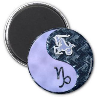 Capricornio Yin Yang Imán Redondo 5 Cm