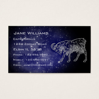 Capricornus Horoscope Business Card