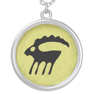 Capricornus Round Pendant Necklace