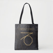 Capricornus Zodiac Sign | Custom Background   Text Tote Bag