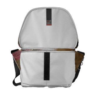 Caprine blanco de la raya de la gama de la cabra d bolsas de mensajeria