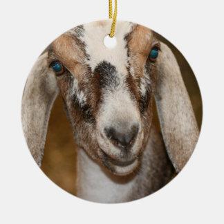 Caprine blanco de la raya de la gama de la cabra d adornos de navidad