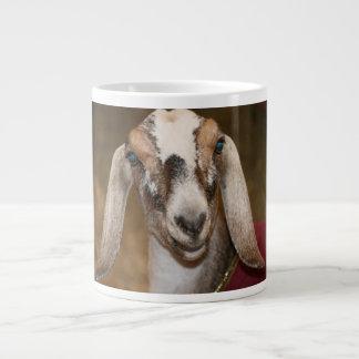 Caprine blanco de la raya de la gama de la cabra d taza extra grande