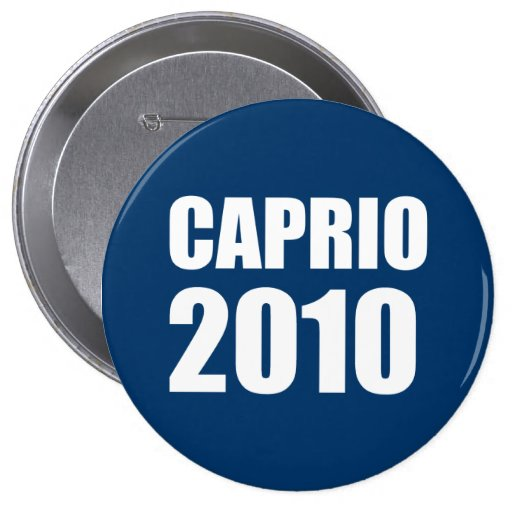 CAPRIO 2010 PIN REDONDO DE 4 PULGADAS
