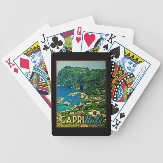 Capris Italy Vintage Travel Bicycle Playing Cards