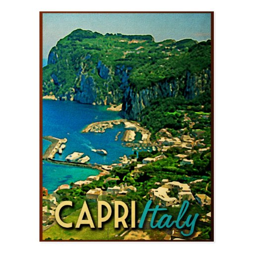 Capris Italy Vintage Travel Postcards