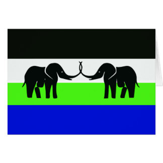 Caprivi Bantustan, Namibia Greeting Card