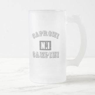 Caproni Campini Frosted Glass Beer Mug