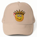 Frog king emoticon   caps_and_hats
