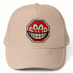 Stop sign smile   caps_and_hats