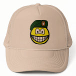 Green beret smile   caps_and_hats
