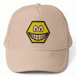 Hexagon smile   caps_and_hats