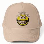 Hair washing smile   caps_and_hats
